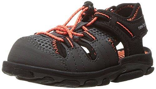 Boy Balance Sneakers Toddler New (New Balance Kids Baby Boy's Adirondack Sandal (Toddler/Little Kid) Black/Orange Sneaker)