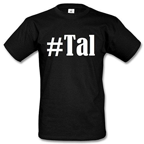 T-Shirt #Tal Hashtag Raute für Damen Herren und Kinder ... in der Farbe Schwarz Schwarz