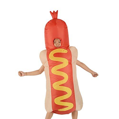 Dog Kostüm Für Erwachsene - P Prettyia Aufblasbares Hot Dog Kostüm Fatsuit Coaplay/Karneval/Party Kostüm Luft Anzug Spielzeug für Erwachsene
