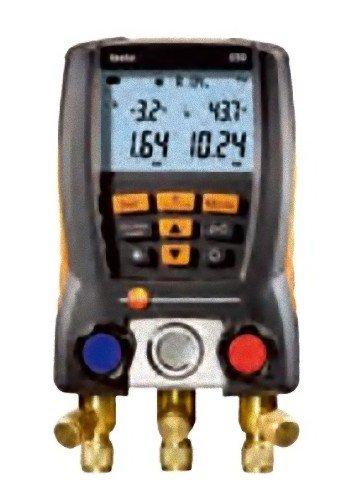 Testo 0563 5505 550-1 Set digitale Monteurhilfe für Service, Wartung von Kälteanlagen und Wärmepumpen, inklusive Zangenfühler