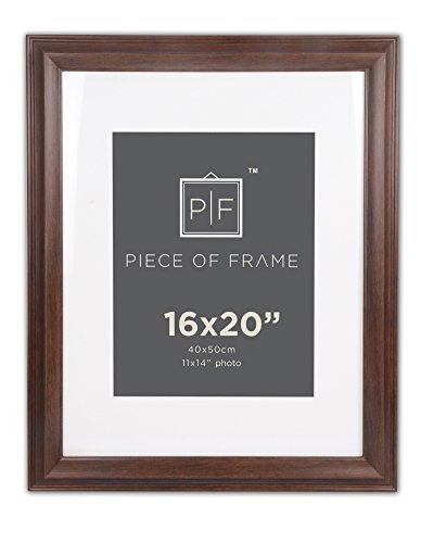 Golden State Art, 16x 20Bordüre braun Bilderrahmen, mit elfenbeinfarbenem Matte für 11x 14Bild & Echtglas