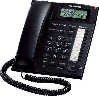 Panasonic Single Line KX-TS880MX Corded Phone (Black)