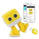 Smart Roboter, WL Tech Intelligence Bildung Musik Roboter mit Singen, Tanz, Sounds und Licht, APP und drahtlose Fernbedienung für Kinder (Gelb)