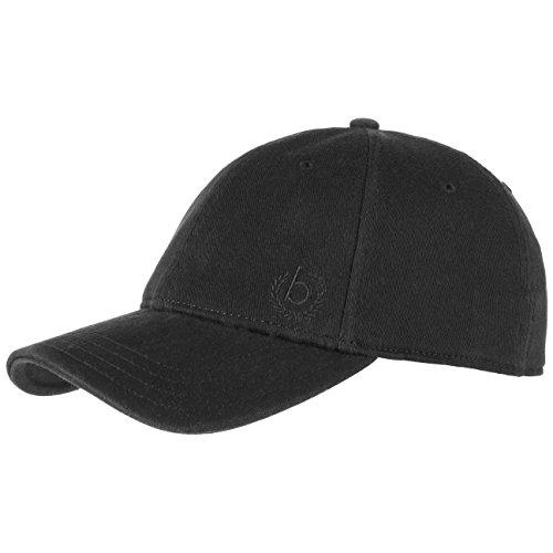 Brim Fitted Cap (bugatti Flex Fitted Fullcap Cap Basecap Baseballcap Kappe Käppi Curved Brim Baumwollcap Flexcap Baumwollcap (M (56-57 cm) - schwarz))