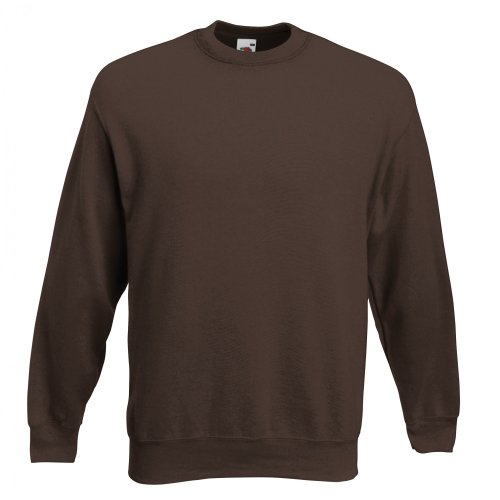 Fruit Of The Loom Unisex Premium 70/30 Sweatshirt (S) (Schokoladenbraun) F324N bestellen!!