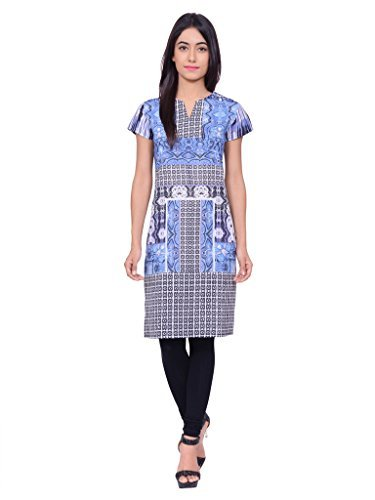 Juniper Women's A line Kurta (30523BLUE_Large)
