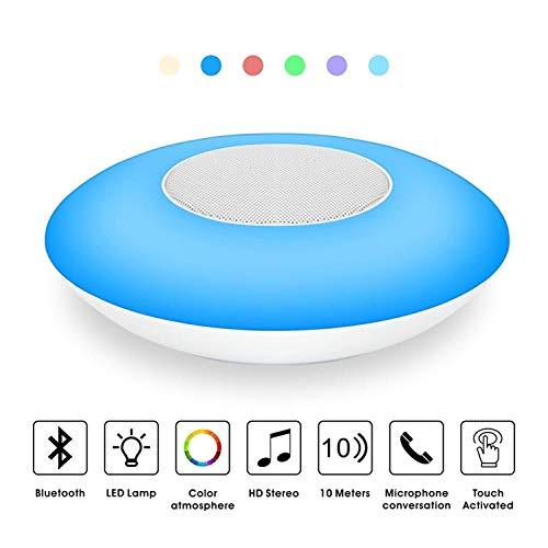 (V.TOP Bluetooth Lautsprecher Wireless Speaker + Lampe LED Dimmbare Farbwechsel Nachtlicht Stimmungslicht Touch Control - Wireless Bluetooth Musik Lautsprecher)