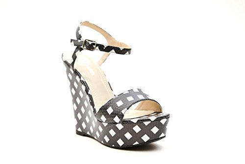Relish sandalo da donna nero e bianco 36