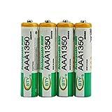 Peanutaso 4 unids BTY 1.2 V AAA 3A 1350 mAh Capacidad Ni-MH Reemplazo de Batería Recargable para...