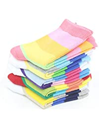 RUOHAN Calcetines para Niños 5 Pares Primavera Y Otoño Calcetines para Niños Algodón Sin Espinas Costuras Niños Pequeños, Medianos Y…
