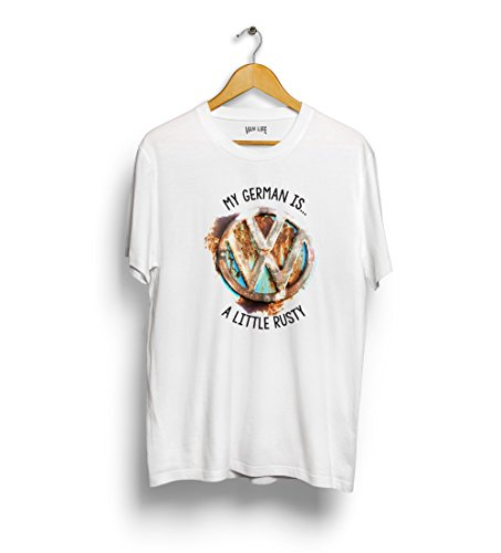 My-German-is-a-little-rusty-t-shirt-inspired-by-ratty-VW-camper-van-vintage-splitty-Volkswagen-T2-classic-car