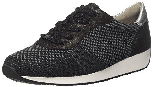 ARA Damen LISSABON Sneaker, Schwarz (Schwarz-Grau, Schwarz/Silber 07), 42 EU