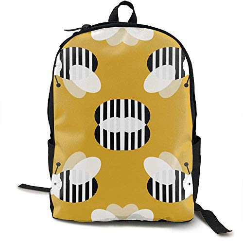 HOJJP Schultasche Bumble Bee Garden Summer Cute Stripes
