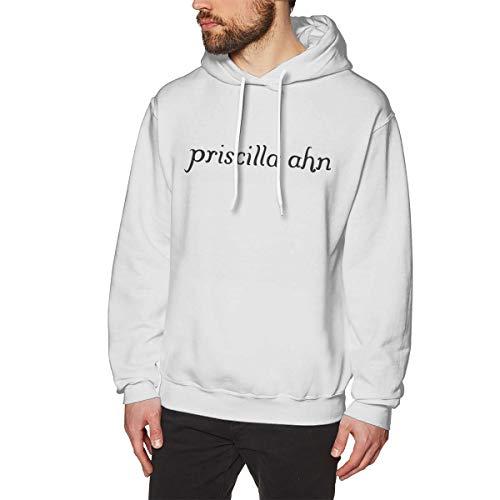 DaaoplingGeebaght Männer Priscilla AHN Wärme White XL Fleece-Pullover Mit Kapuze -