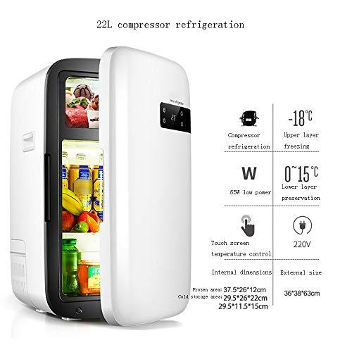 Xyanzi Mini-Kühlschränke Gefrorener Kleiner Kühlschrank, Tragbarer 22,5-l-Minikühlschrank mit Digitalem Thermostat for Das Heimbüro - Weiß -