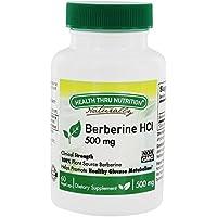 Salud a través de la nutrición - Metabolismo sano de la glucosa de berberina HCl 500 mg. - 60Capsule(s) vegetal
