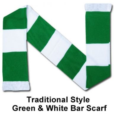 green-white-bar-scarf
