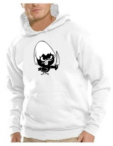 Calimero - Sweatshirt mit Kapuze - Hoodie weiss Gr.S