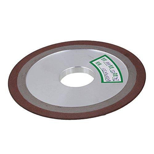 125 x 10 x 25 x 8mm Silber Braun Diamant Aluminium Resin eine Seite Tapered Schleifscheibe # 150 Körnung 75% Konzentration schneider Mühle für Snagging Entgraten -