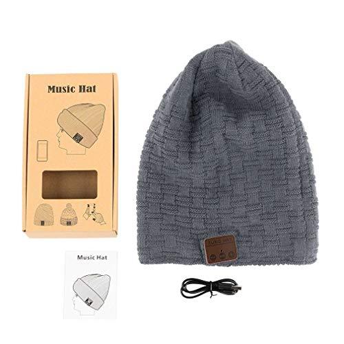 Preisvergleich Produktbild Sookg Bluetooth 4.2 Slouchy Daily Beanie Mütze mit kabellosen Kopfhörern für Männer und Frauen