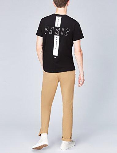 5409b3fd5f33a4 ... FIND T-Shirt Herren Paris-Print und Runder Ausschnitt Schwarz (Black  001) ...