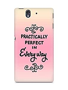 AMEZ practically perfect in every way Back Cover For Sony Xperia Z