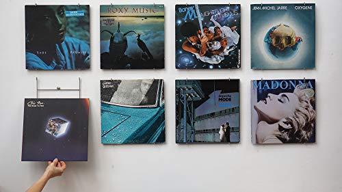 Vinyl-Waller 8 Cadres vinyles : 8 Supports muraux pour Albums vinyles 33 Tours / 12 Pouces - Créez Votre déco Vinyle et changez la en Un clin d'œil