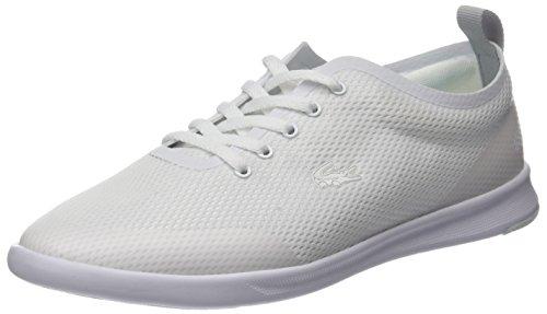 Lacoste Damen Avenir 118 1 SPW Sneaker, Weiß (WHT/Lt Blu), 37 EU