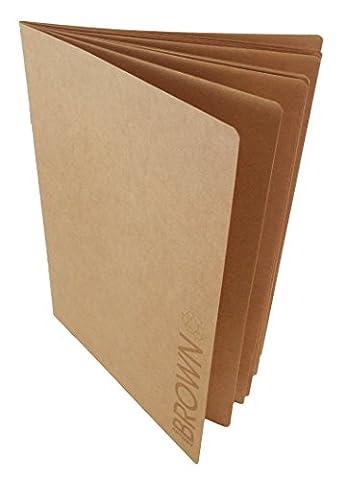 Artway - Carnet à dessin avec couverture souple - papier kraft marron/recyclé - 130 g/m² - 28 pages - A3
