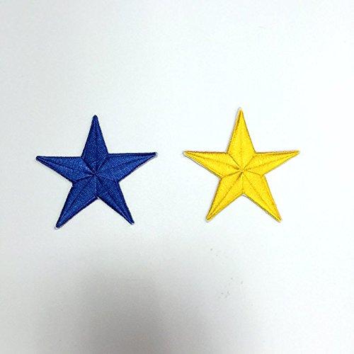 Nuovo 5 colori 7 centimetri stella zona del ferro sui militari Silver Star Patch 10pcs Set logo ricamato Applique su ordine blu e giallo