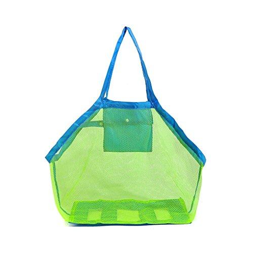 LUFA Große Kinder Strand Spielzeug Erhalten Netztasche Sand-Kästen Kinderaufbewahrungstasche blau&45cmx30cmx45cm