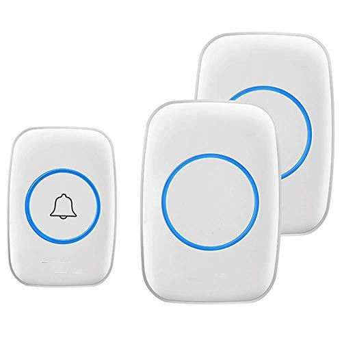 OaLt-t Türklingel Drahtlose Türklingel Home Remote Intelligente Türklingel mit 1 Fernbedienungstaste Türklingel türklingel Funk (Color : White 1x2)