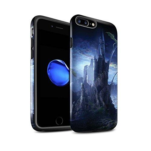 Officiel Elena Dudina Coque / Brillant Robuste Antichoc Etui pour Apple iPhone 8 Plus / Pack 17pcs Design / Fantaisie Paysage Collection Vallée des Dragons