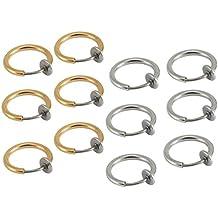 12piezas KULTPIERCING–Falso Clip en pendientes cuerpo Jewelry–Pendientes de aro, de 6pares