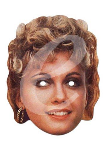 rominentenmaske, Papp Maske, aus hochwertigem Glanzkarton mit Augenlöchern, Gummiband - Grösse ca. 30x21 cm (Olivia Newton John Kostüm)