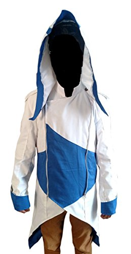 Connors Ken way Leather Assassin's Creed Halloween Jacket White XL ()