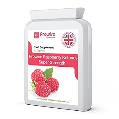 Raspberry Ketones 600mg ( 60 Capsules )- Premium Quality - Fat Metabolism, Weight Management, Fat Burner, Natural Ingredients, UK Manufactured, Suitable for Vegetarians & Vegans, GMP by Prowise Healthcare