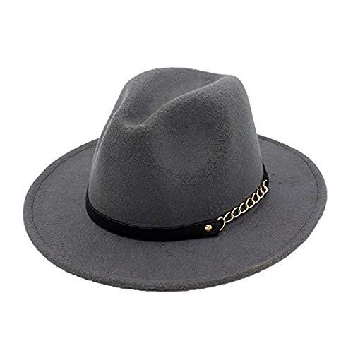Unbekannt Home Decor Mode Hut, Frauen Frühling Herbst Winter Retro Jazz Hut Trilby Hüte Filzmütze
