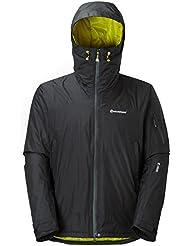Montane Jacke Minimus Hybrid - Chaqueta de running para hombre, color negro, talla L