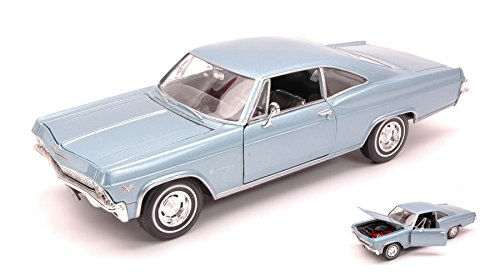 chevrolet-impala-ss396-coupe-1965-blue-124-welly-auto-stradali-modello-modellino-die-cast