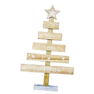B Blesiya Adornos De Mesa De Madera Decoración del árbol De Navidad para Regalos De Escritorio En El Hogar – Amarillo
