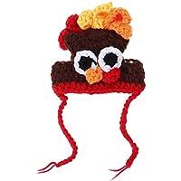 POPETPOP Turquía Sombrero Gorro para Mascotas Invierno Cálido Sombrero Fiesta Festiva Suministros para Fiestas Mascotas Costume Cap