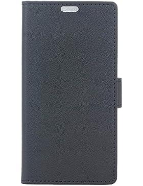Funda Samsung Galaxy Xcover 4 G390F ,Bookstyle PU Cuero cartera para TPU Silicone Case Cover -Negro