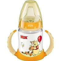 NUK 10215092 First Choice Trinklern-Flasche Disney Winnie aus PP 150 ml, mit Soft-Trinktülle aus Silikon ab 6 Monate, auslaufsicher, BPA frei, gelb