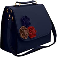 Envias Leatherette Side Sling Bags For Women's Ladies (Blue_EVS-