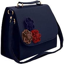 Envias Leatherette Side Sling Bags For Women's Ladies (Blue_EVS-111)
