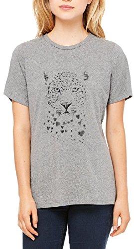 Jaguar Graphic Design Women's T-shirt Gris