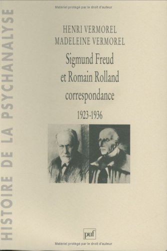 Sigmund Freud et Romain Rolland, correspondance 1923-1936