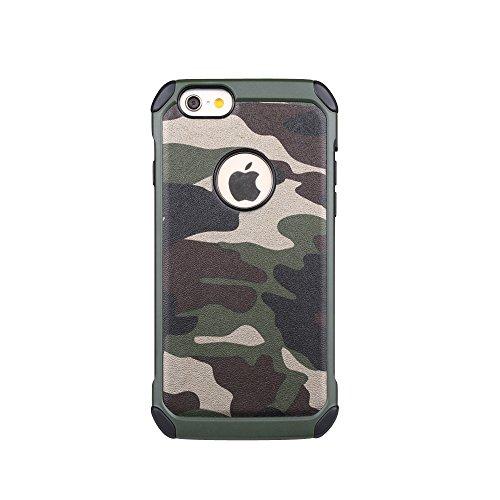 iPhone 6Plus Coque, Meiya Camouflage Militaire pour IPHONE 6Plus, Coque antichoc en TPU + PC hybride double couche Protection Housse Coque rigide pour iPhone 6Plus 14cm Vert militaire