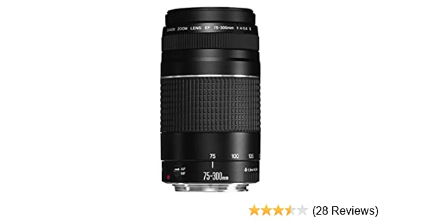 Canon 6472A012 EF 75-300 mm F//4.0-5.6 USM III Compatible with Filter Size-58 mm,Black
